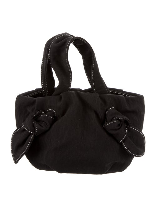 Staud Canvas Handle Bag Black