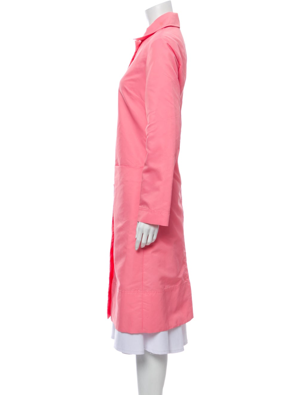 Staud Trench Coat Pink - image 2