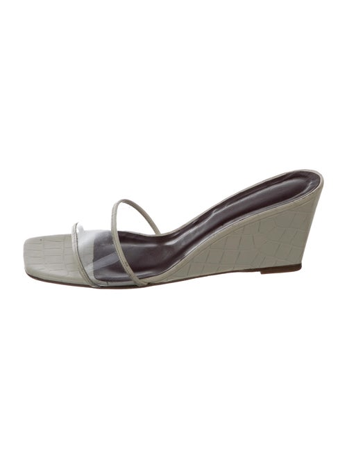 Staud Leather Slides White