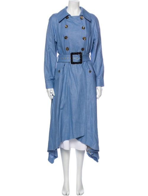 Staud Trench Coat Blue