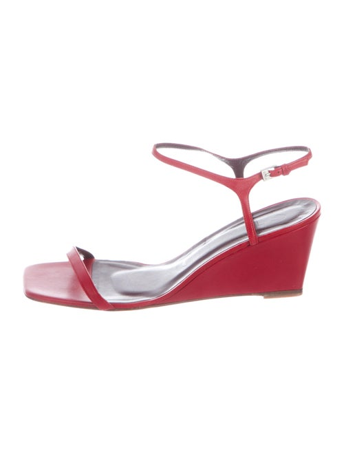 Staud Leather Sandals Red