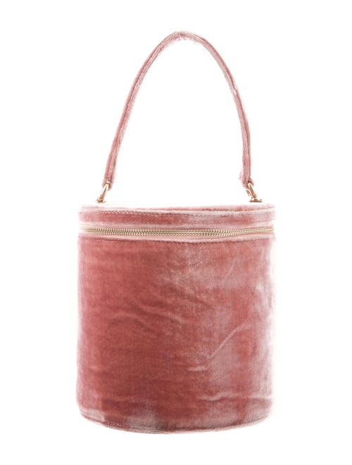 Staud Velvet Bucket Bag Pink