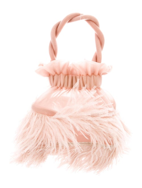 Staud Feathered Grace Bag Pink