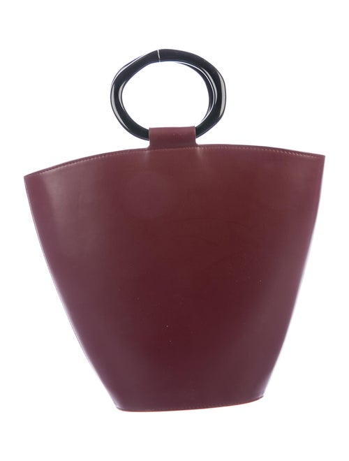 Staud Staud Leather Bucket Bag Red