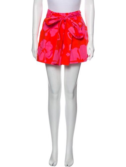 Staud Printed Mini Shorts Pink