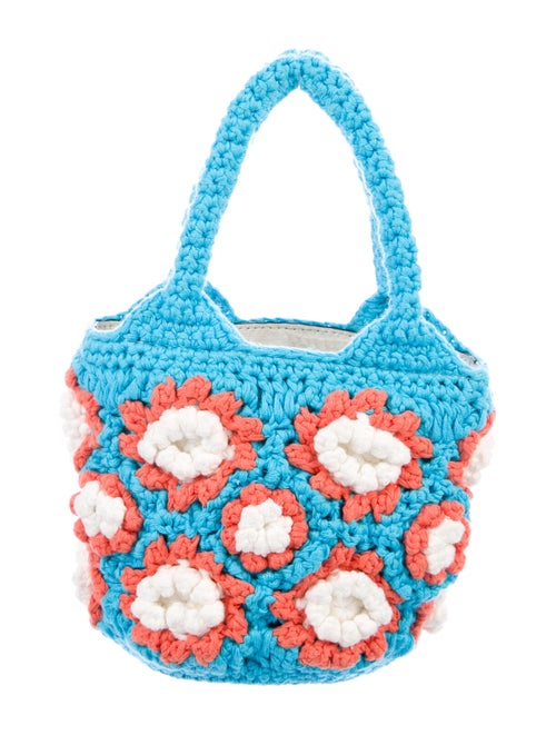 Staud Knitted Handle Bag Blue
