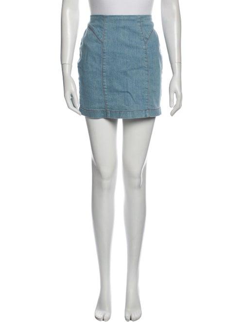 Staud Mini Skirt Blue - image 1