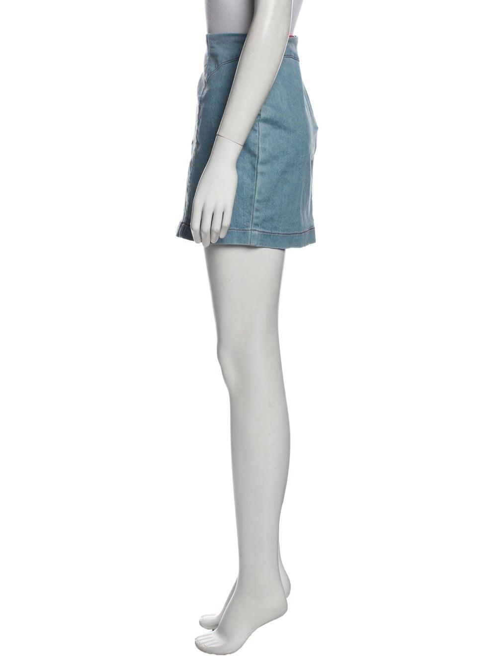 Staud Mini Skirt Blue - image 2