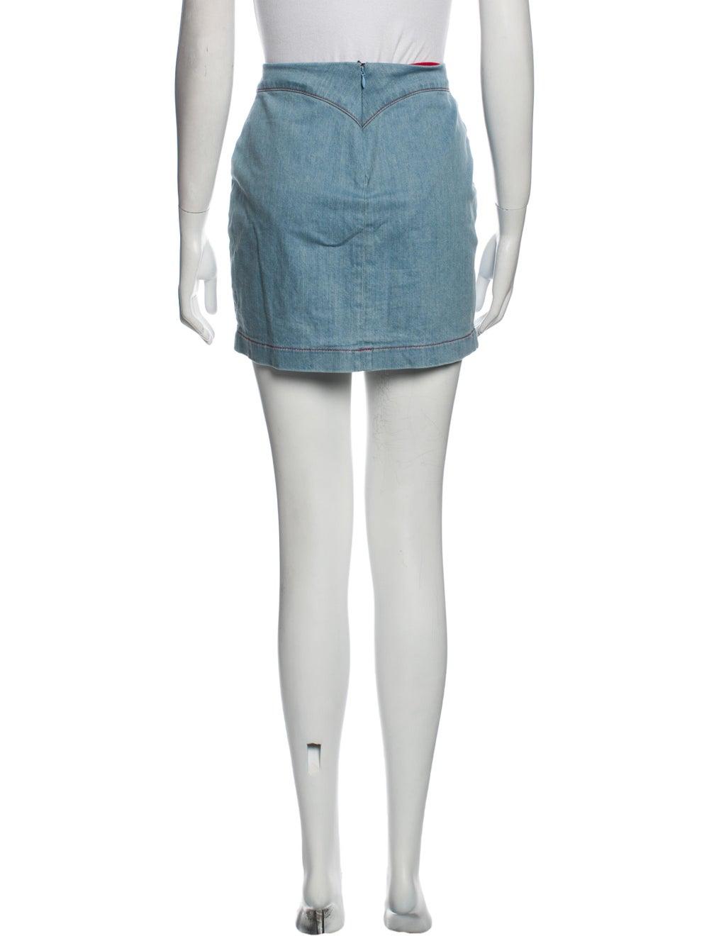 Staud Mini Skirt Blue - image 3