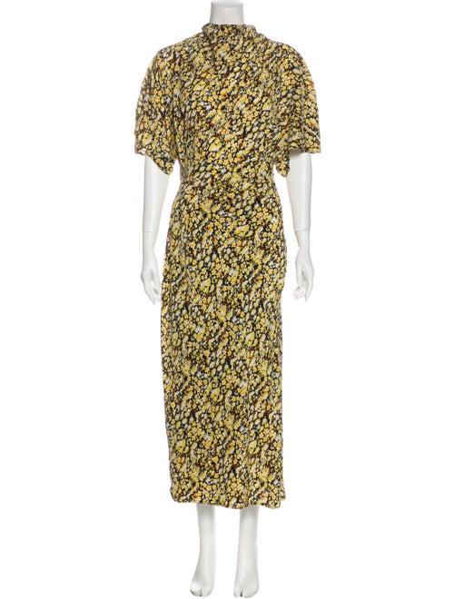 Stine Goya Silk Long Dress Yellow
