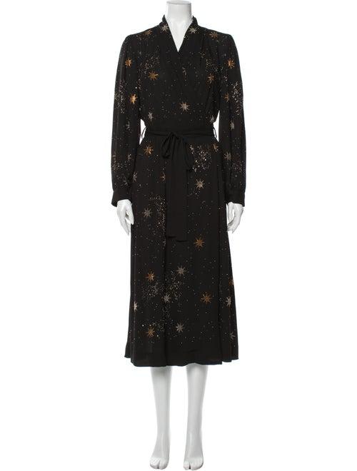 Stine Goya Printed Long Dress Black