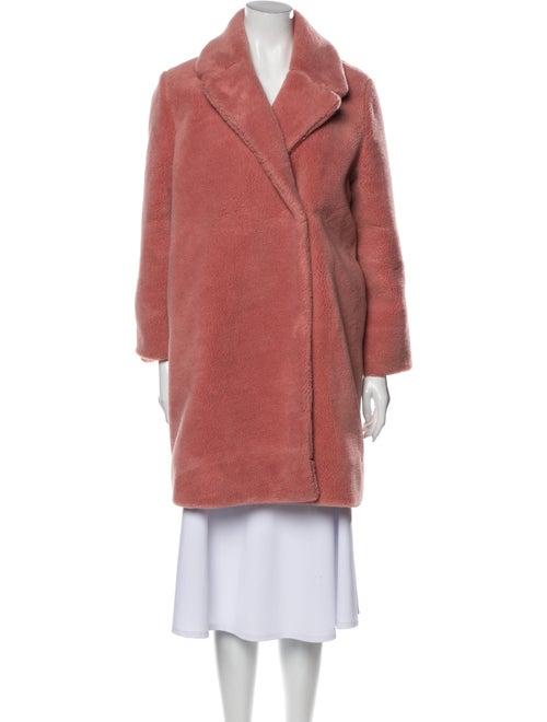 Stine Goya Faux Fur Coat Pink
