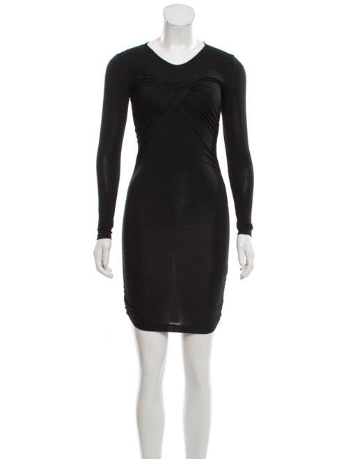 Stine Goya Crew Neck Mini Dress Black