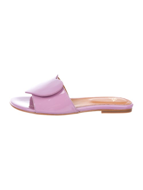 Stine Goya Amina Patent Leather Slides Purple