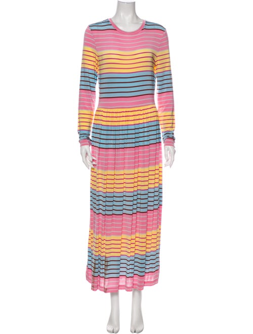 Stine Goya Striped Long Dress Pink