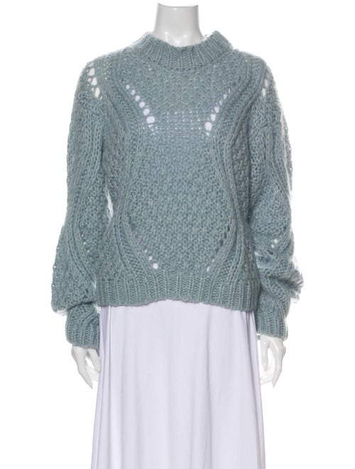 Stine Goya Mock Neck Sweater Blue