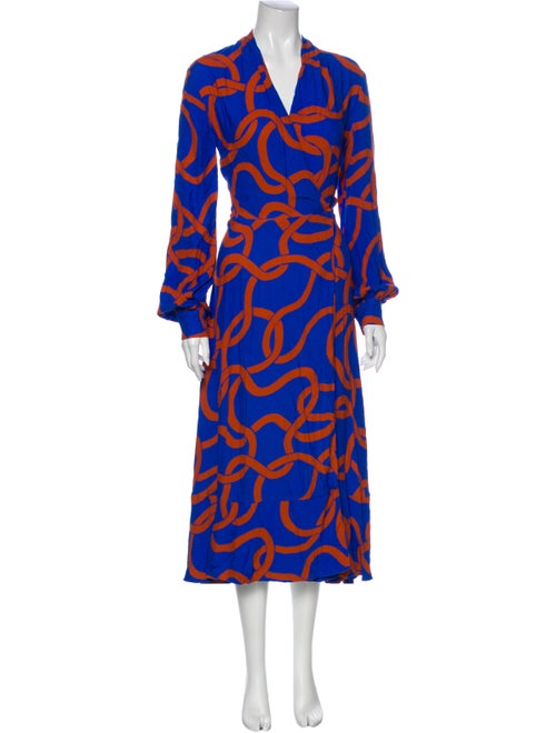 Stine Goya Printed Long Dress Blue