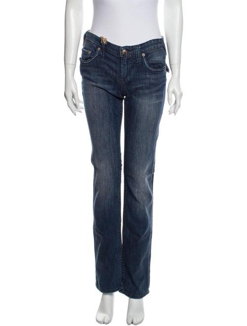 Stitch's Low-Rise Straight Leg Jeans Blue