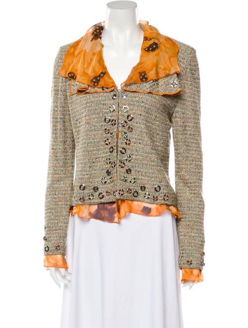 St. John Couture Tweed Pattern Jacket