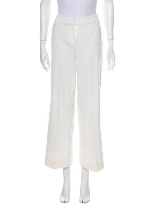 St. John Couture Wide Leg Pants White