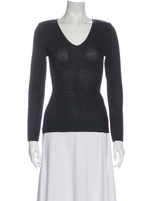 St. John Couture V-Neck Sweater Black