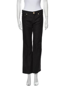 St. John Couture Mid-Rise Wide Leg Jeans