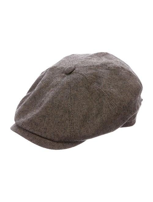 Stetson Woven Newsboy Hat Brown