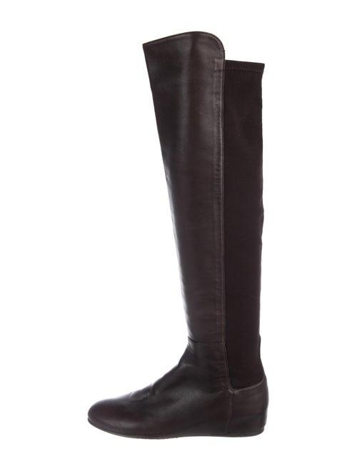Stuart Weitzman Leather Knee-High Boots Brown