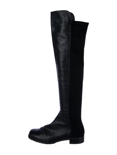 Stuart Weitzman Leather Over-The-Knee Boots Black