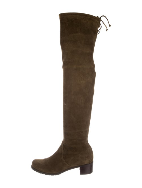 Stuart Weitzman Suede Over-The-Knee Boots Olive