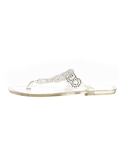 Stuart Weitzman PVC Embellished Sandals Clear