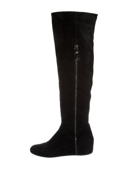 Stuart Weitzman Over-The-Knee Wedge Boots Black