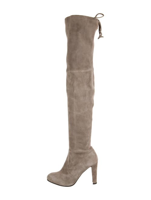 Stuart Weitzman Suede Over-The-Knee Boots Grey
