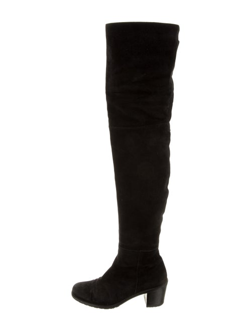 Stuart Weitzman Suede Over-The-Knee Boots Black