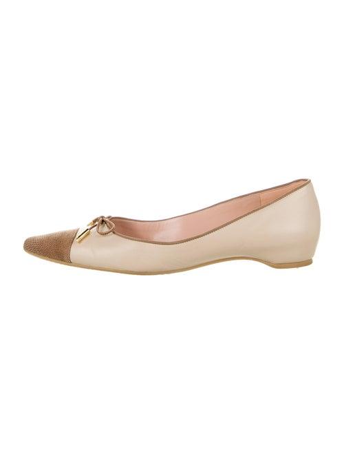 Stuart Weitzman Capricorn Leather Ballet Flats