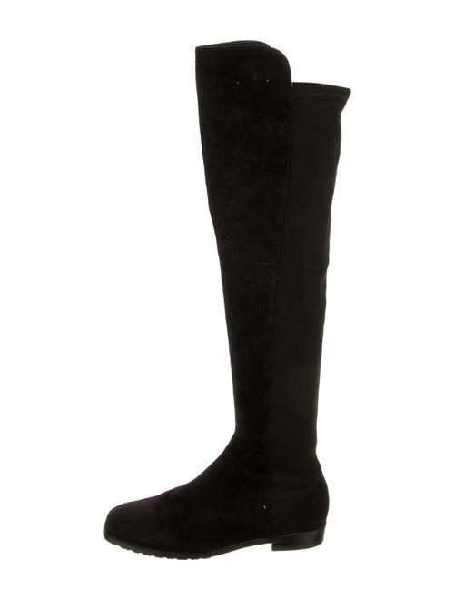 Stuart Weitzman Over-The-Knee Suede Boots Black