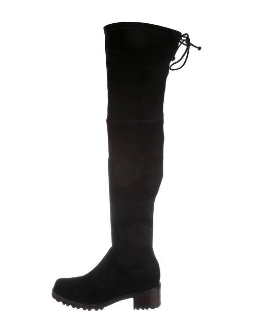 Stuart Weitzman Suede Over-The-Knee Boots Black