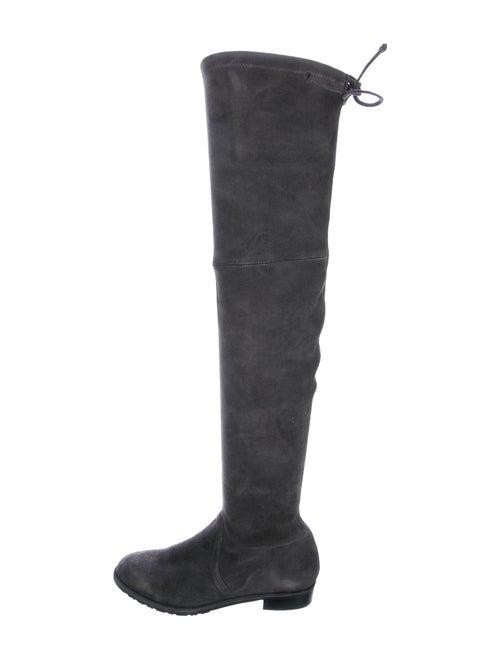 Stuart Weitzman Suede Over-the-Knee Boots Grey