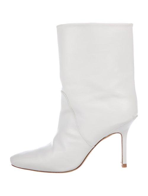 Stuart Weitzman Leather Boots White