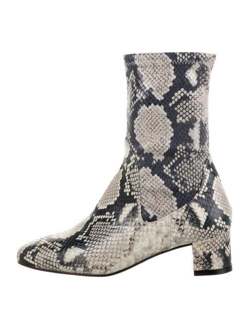Stuart Weitzman Ernestine Leather Boots White