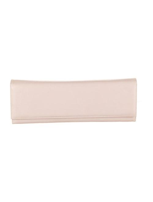 Stuart Weitzman Leather Flap Clutch Pink