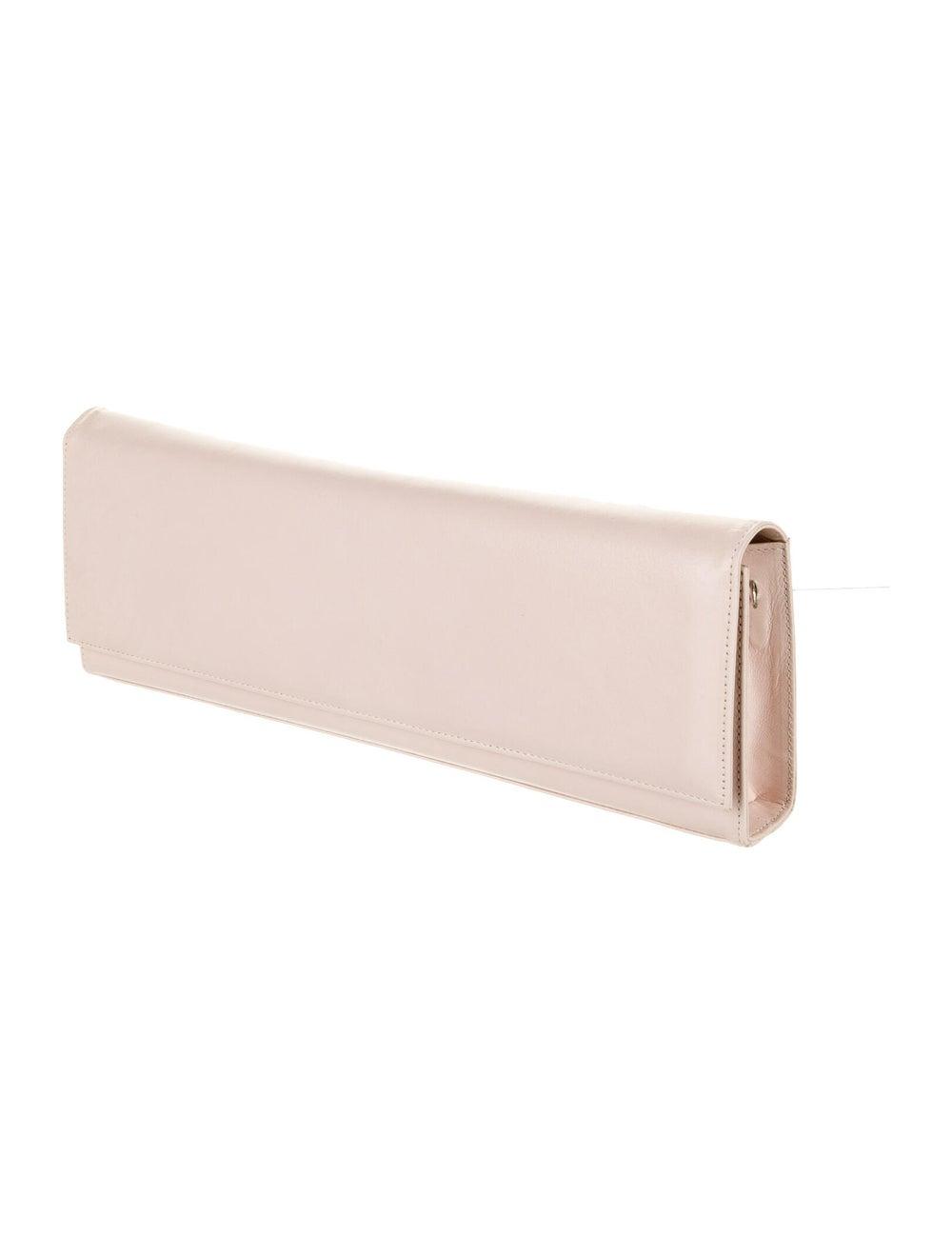 Stuart Weitzman Leather Flap Clutch Pink - image 3