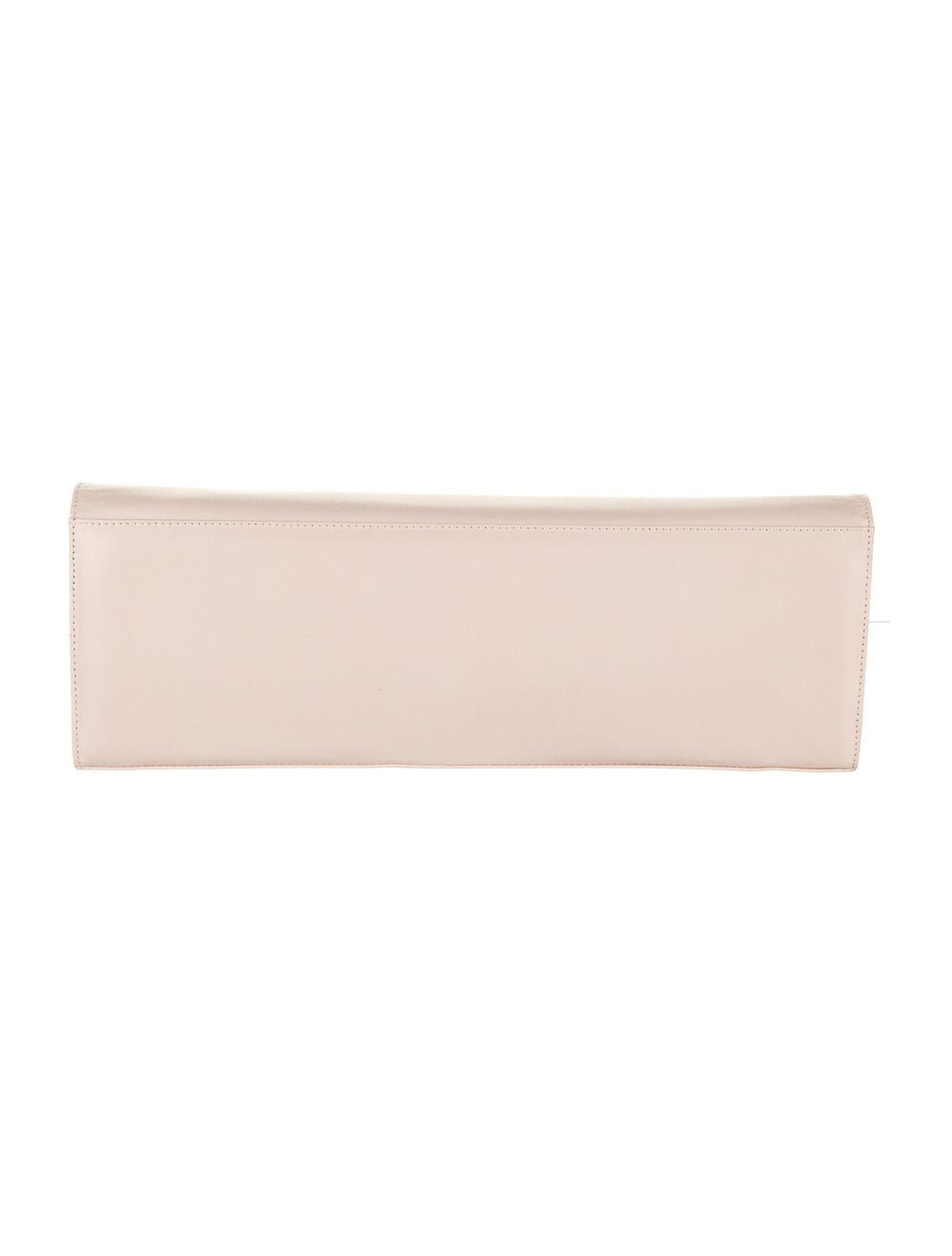 Stuart Weitzman Leather Flap Clutch Pink - image 4