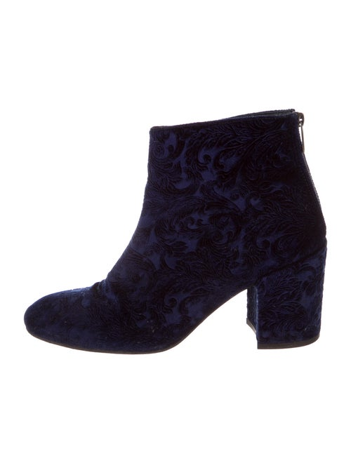 Stuart Weitzman Embroidered Accent Boots Blue