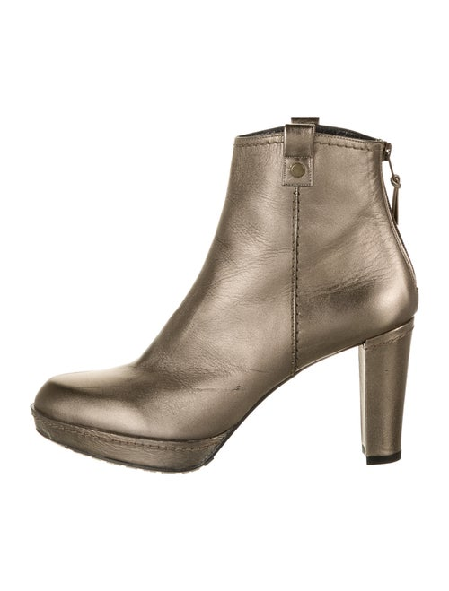 Stuart Weitzman Leather Boots Gold