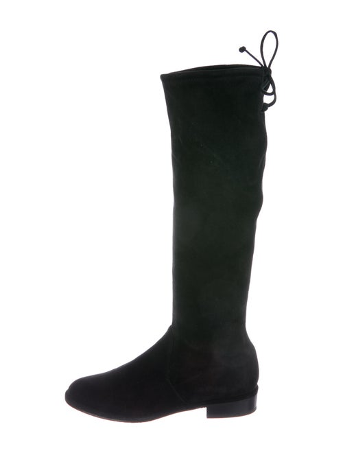 Stuart Weitzman Suede Riding Boots Black