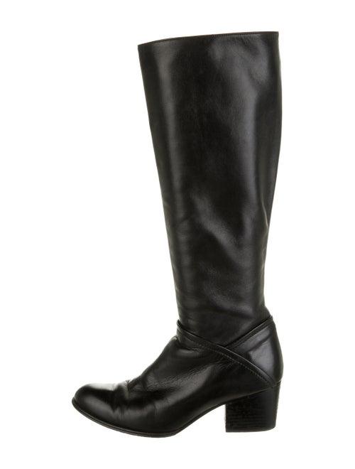 Stuart Weitzman Leather Riding Boots Black