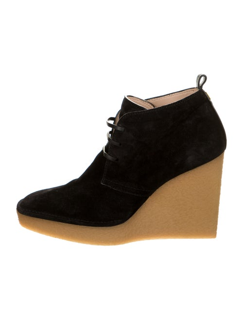 Stuart Weitzman Suede Lace-Up Boots Black