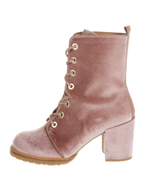 Stuart Weitzman Lace-Up Boots Pink - image 1