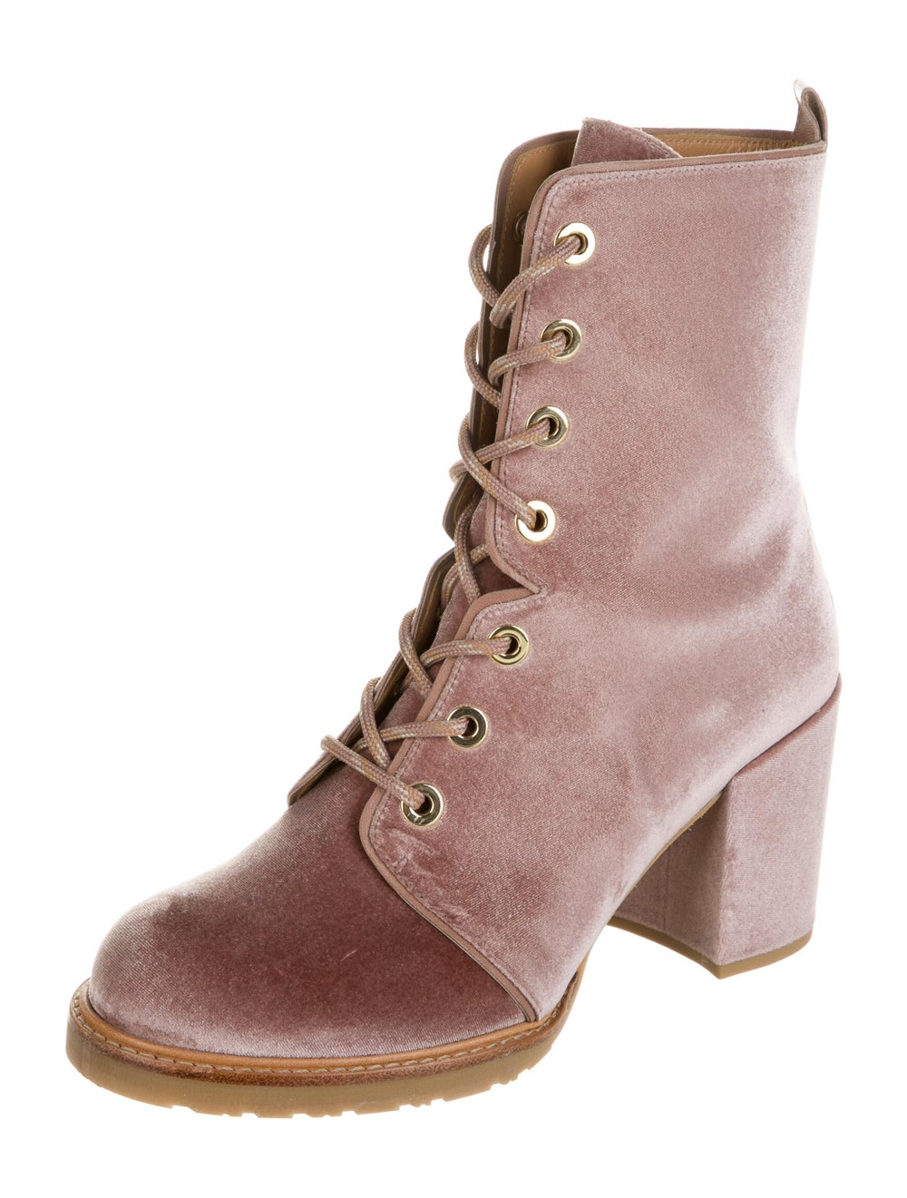 Stuart Weitzman Lace-Up Boots Pink - image 2